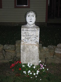 The namesake stone head