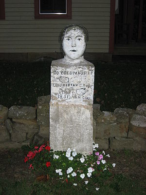 Thomas A. Hendricks House - Image: Stone Head marker