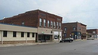 Goodland, Indiana - Newton Street in downtown Goodland