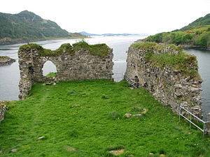 Clan MacDonell of Glengarry - Ruins of Strome Castle, the original seat of the chiefs of the Clan MacDonell of Glengarry