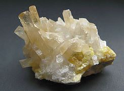 Strontianite with Sulphur.jpg