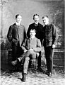 Studio portrait of Edmund C Senkler, seated, and three other men, Dawson, Yukon Territory, between 1896 and 1906 (AL+CA 1431).jpg