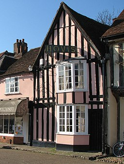 Suffolk Pink in Lavenham Market Place - geograph.org.uk - 1511855