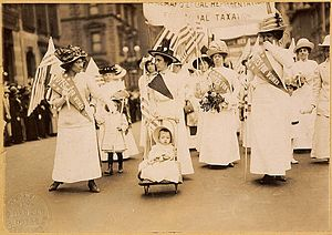 Suffrage parade, New York City, May 6, 1912.