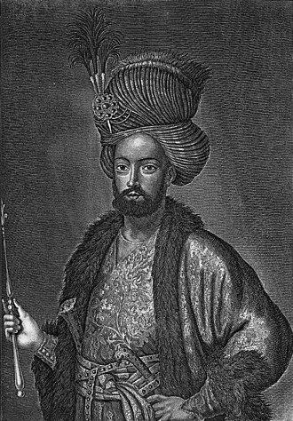 Sultan Husayn - Contemporary portrait of Sultan Husayn by Cornelis de Bruijn
