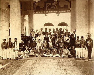 Federated Malay States - Malay Rulers at the first Durbar, Kuala Kangsar, Perak. July 1897.