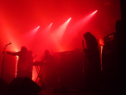 Sunn O))) on stage at the Ritz in Manchester, 11 June 2012 Sunn O))) (7180409975).jpg