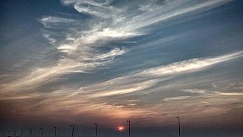 Sunset at Mahanadhi bridge.jpg