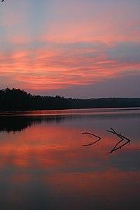 Sunset over Lake Ganoga.jpg