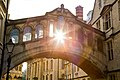 Sunset through the Bridge of Sighs, Oxford.jpg