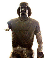 Bronze Statue of General Surena, National Museum of Iran.