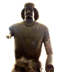 Metallic statue of a Parthian prince (thought to be Surena), AD 100, kept at The National Museum of Iran, Tehran.