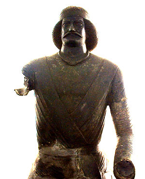 Battle of Carrhae - Statue of Parthian Noble Man, National Museum of Iran 2401, attributed by some to Surena