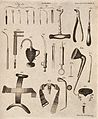 Surgical instruments. Engraving by Andrew Bell. Wellcome V0016375.jpg