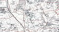 Sutton, Herefordshire, OS 1 to 25,000 Administrative Area Series of Great Britain, 1950.jpg