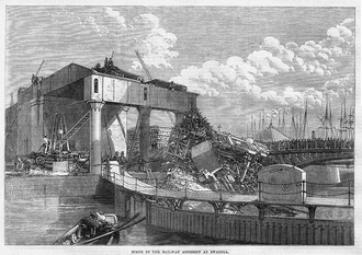 Vale of Neath Railway - Illustrated London News image of the result of the accident