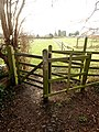 Swing Gate on the footpath west of Preston - geograph.org.uk - 1087025.jpg