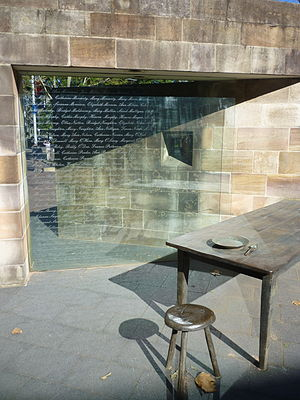 Hossein Valamanesh - Barracks side of the Australian Monument to The Great Irish Famine at Hyde Park Barracks, Sydney