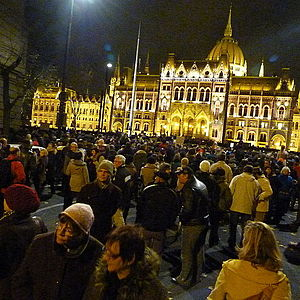 2014 Hungarian Internet tax protests - Demonstration in Kossuth Square, Budapest, 17 November 2014