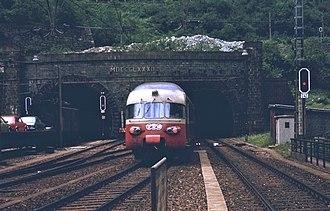 Gottardo (train) - The TEE Gottardo entering the Gotthard Tunnel in 1979