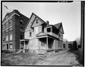THREE-QUARTER VIEW OF FRONT AND SIDE ELEVATION - 22-24 Congress Street (House), Hartford, Hartford County, CT HABS CONN,2-HARF,5-2.tif