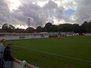 Thackley A.F.C. - THACKLEY FC TOWN END OF GROUND