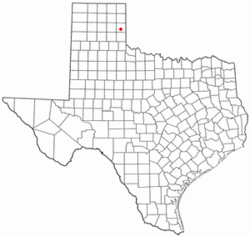 Location of Shamrock, Texas
