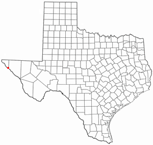 Tornillo, Texas - Image: TX Map doton Tornillo