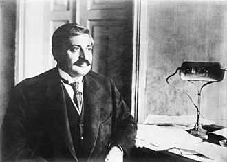 Talaat Pasha - Interior Minister Talaat Pasha, who ordered the arrests of the Armenians during the Armenian genocide.