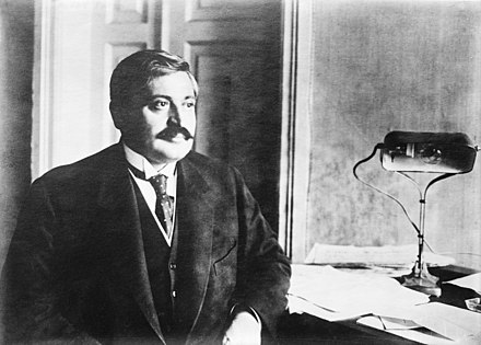 Interior Minister Talaat Pasha, who ordered the arrests. Talat Pasha.jpg