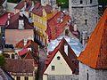 Tallinn Blick von der Olaikirche auf die Stadtmauer 4.JPG