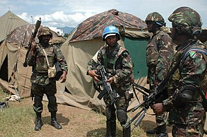 United Nations Force Intervention Brigade - Tanzanian FIB peacekeepers in Kiwanja, near Goma, in 2013