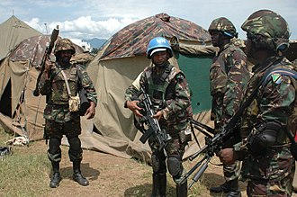 March 23 Movement - Tanzanian soldiers of the UN brigade