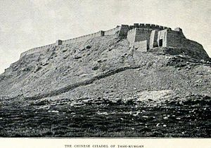 Tashkurgan Town - The fortress in 1909.