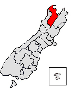 Location in the South Island