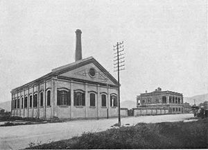 CLP Group - The group's first power station on Chatham Road, Hung Hong, in Hong Kong (picture taken between 1903 and 1908).