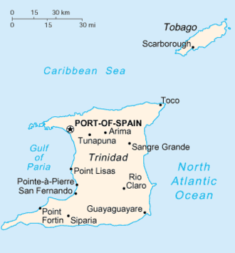 Trinidad - Map of Trinidad and Tobago
