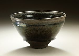 Chawan - Image: Tea Bowl (Chawan) with Hare's Fur Pattern LACMA M.51.2.1
