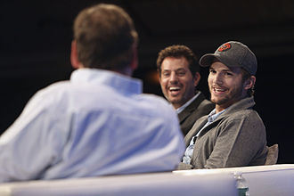 Guy Oseary - Michael Arrington interviewing Oseary and Ashton Kutcher at TechCrunch Disrupt 2013 in New York