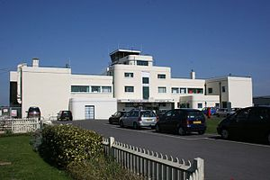 Brighton City Airport - The art deco terminal building of Brighton City Airport