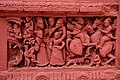 Terracotta decorations on wall of Temple of Sri Sri Nandadulal Jew at Gurap in Chinsurah subdivision of Hooghly district at West Bengal.jpg