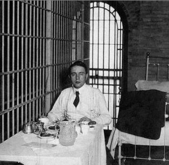 "Harry Kendall Thaw - Thaw in jail cell on ""Murderers' Row"", Tombs Prison"