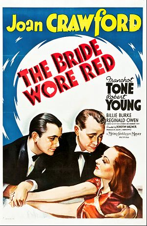 The Bride Wore Red - Theatrical release poster