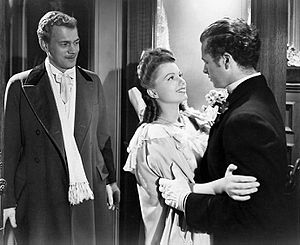 The Magnificent Ambersons (film) - Joseph Cotten, Anne Baxter and Tim Holt