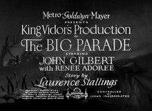 The Big Parade[note 1]