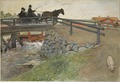 The Bridge. From A Home (26 watercolours) (Carl Larsson) - Nationalmuseum - 24200.tif