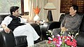 The Chief Minister of Sikkim, Shri Pawan Chamling meeting the Minister of State (Independent Charge) for Power, Shri Jyotiraditya Madhavrao Scindia, in New Delhi on November 08, 2012.jpg