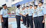 The Chief of the Air Staff, Air Chief Marshal B.S. Dhanoa meeting the Commanders of Western Air Command, during the WAC Station Commanders' Conference 2018, at HQ Western Air Command, in New Delhi on November 01, 2018.JPG