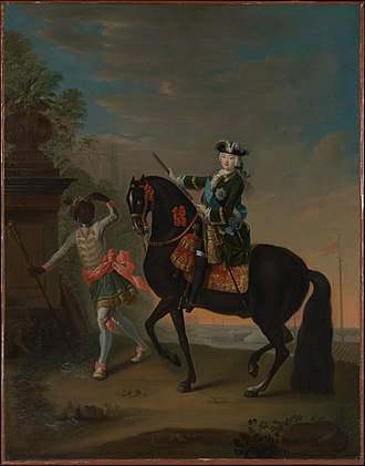 Kingdom of Finland (1742) - The Empress Elizabeth of Russia on Horseback, Attended by a Page, circa 1740s, in the collection of the Metropolitan Museum of Art
