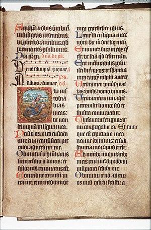 Psalm 38 - Manuscript of Psalm 38